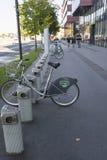 Bike rental. Site for Bike rental in Ljubljana Stock Photo