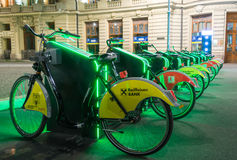 Bike rental station. Automated bike rental station I`Velo Urban in Bucharest Stock Images
