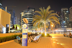 The bike rental station in Dubai Marina of nextbike Stock Image