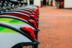 Bike rentals. In the city Royalty Free Stock Photography