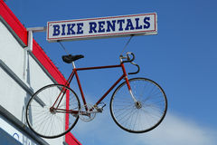 Bike rentals. Sign in Napa Valley, California Stock Image