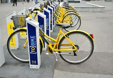 Bike renting in Turin, Italy Royalty Free Stock Photo