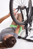 Bike repair Stock Photography