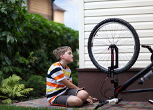 Bike repair Royalty Free Stock Photo