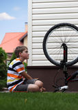 Bike repair Royalty Free Stock Image