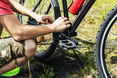 Bike repair Royalty Free Stock Images