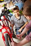 Bike repair service Royalty Free Stock Photography