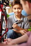 Bike repair service Royalty Free Stock Photo