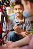 Bike repair service Royalty Free Stock Photo