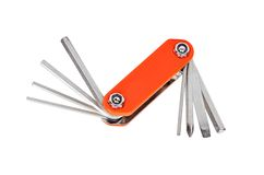 Bike repair tool key Royalty Free Stock Images