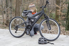 Bike Repair Stock Photography