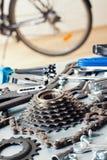 Bike repairing Royalty Free Stock Photos