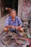 Bike repairman Royalty Free Stock Images