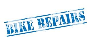 Bike repairs blue stamp Royalty Free Stock Images