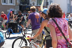 Bike revolution Velorution, Grenoble, France Royalty Free Stock Photo