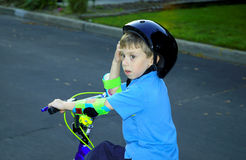 Bike Ride. Child Riding His Bike Royalty Free Stock Images