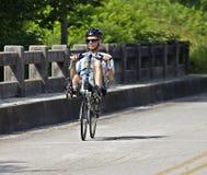 Bike Ride Across Georgia. CLAYTON, GA - JUNE 9 : Unidentified cyclist participates in the annual Bicycle Ride Across Georgia, June 9, 2012, in the Lake Burton Royalty Free Stock Photos