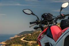 Bike ride along the coast. royalty free stock image