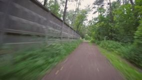 Bicycle ride through the park stock video