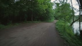Bicycle ride through the park stock video footage
