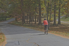 Bike Ride in Autumn Royalty Free Stock Image