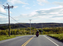 Motorcycle ride through the countryside Royalty Free Stock Photography