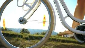 Bike ride low angle wheel