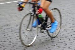 Bike rider. On the street Stock Photography
