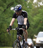 Bike Rider in Central Park NYC Royalty Free Stock Photography