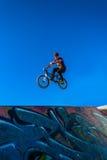 Bike Rider Tricks Air Park Stock Photography
