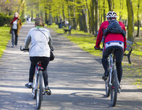 Bike riders Stock Images