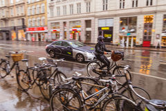 Bike riding in Copenhagen Royalty Free Stock Photos