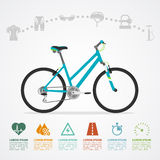 Bike riding infographic Royalty Free Stock Images