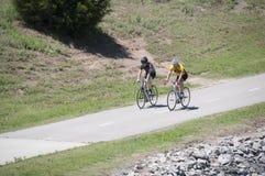 Bike riding on the Oklahoma River Trail Royalty Free Stock Photo