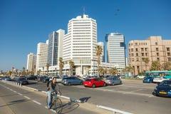 Bike riding on a seaside promenade in Tel Aviv, Israel Stock Images