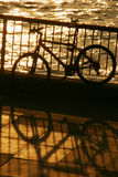Bike by the river royalty free stock photography