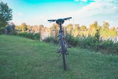 Bike on the river Royalty Free Stock Images
