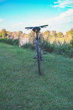 Bike on the river Royalty Free Stock Photography