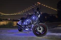 Bike on Riverfront stock images
