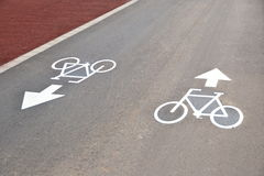 Bike road Royalty Free Stock Photos