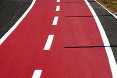 Bike road. Road for bikers and street traffic Royalty Free Stock Images