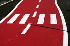 Bike road. Road for bikers and street traffic Stock Image