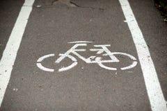 Bike road asphalt Stock Photo