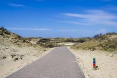 Bike road in Dutch Nature reserve Stock Photo