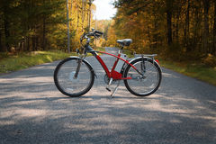 Bike in the road II Royalty Free Stock Photos