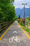 Bike road in Italy Royalty Free Stock Photography