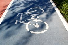 Bike Road. In the public park Stock Photography