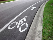 Bike road sign. An image of a bike road sign and arrow Royalty Free Stock Image