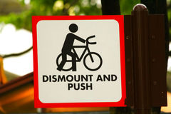 Bike road sign. In singapore for stock images Stock Photography
