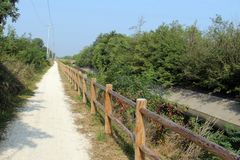 Bike road unpaved Royalty Free Stock Images